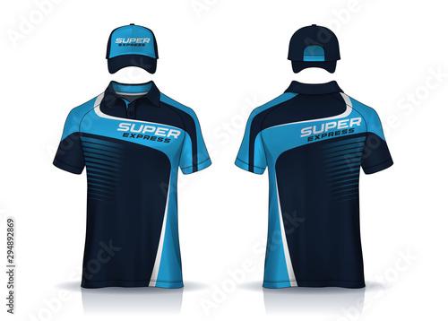 Fotografie, Obraz Corporate Work Shirts,t-shirt and cap templates design
