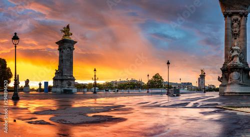 Poster Paris Pont Alexandre 3