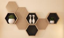 Hexagon Wooden Shelf Japanese ...
