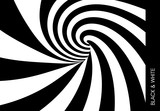 Fototapeta Fototapety przestrzenne i panoramiczne - Pattern with optical illusion. Black and white design. Abstract striped background. Vector illustration.