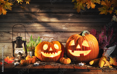 Halloween pumpkin head jack-o-lantern Canvas Print