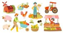 Set Of Local Organic Productio...