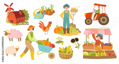 Fotografía  Set of local organic production icons
