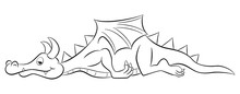 Sleeping Cartoon Dragon