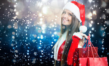 Female Santa Claus Shopping Un...