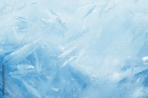 Carta da parati blue frozen texture of ice