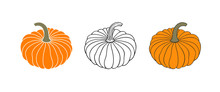 Pumpkin Logo. Isolated Pumpkin...