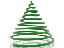 Concept Of Abstract Green Spiral