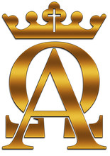 Alpha And Omega With A Cross