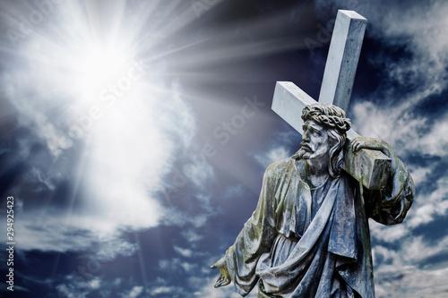 Dramatic image of the cruci...