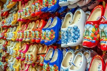 A Shop For Buying Famous Traditional Dutch Wooden Shoes Klompen.