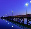 canvas print picture - Pier in blue