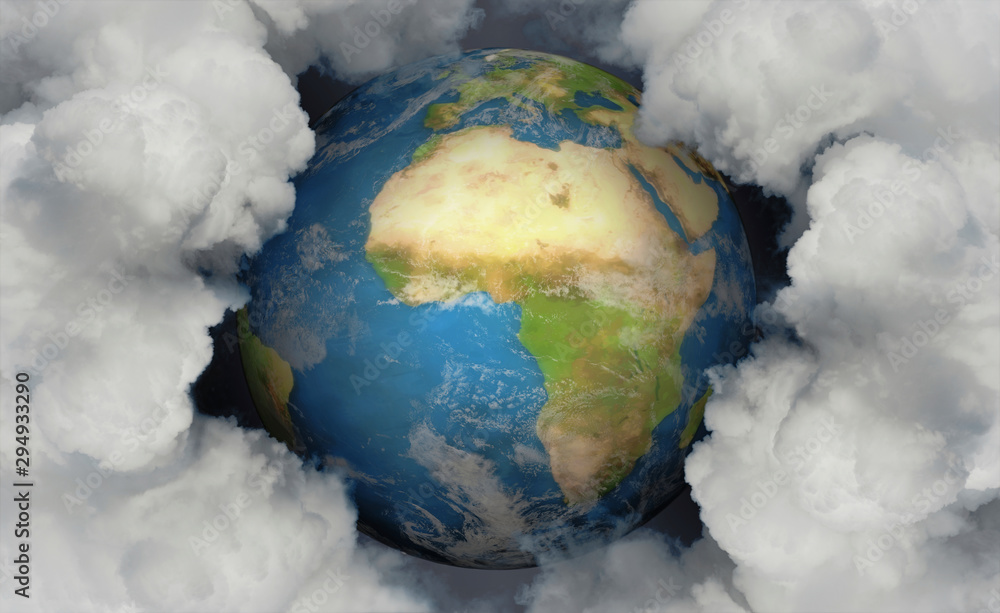Fototapeta Erde & Emissionen