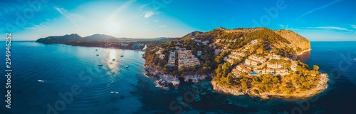 giant panorama of majorca - picture taken by a drone Canvas Print