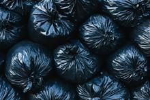 Pile Of Black Plastic Garbage Bags. ,Pile Of Black Plastic Garbage Bags