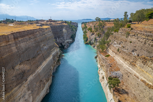 Valokuva The view of Corinth Canal in Greece