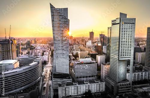 Fototapety, obrazy: Warsaw city view