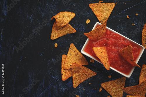 Doritos para untar en la salsa Canvas Print