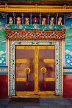 Door In Buddhist Monastery.