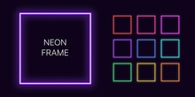 Neon Monochrome Square Border ...