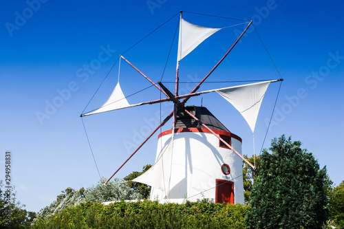 Deurstickers Noord Europa Greek windmill, Gifhorn, Lower Saxony, Germany, Europe