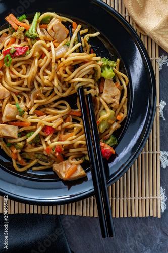 Chinese Chicken Chow Mein Canvas Print