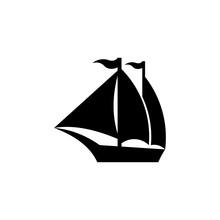 Sailing Boat Vector Logo Brand...