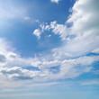 Leinwandbild Motiv Bright summer sun on sky