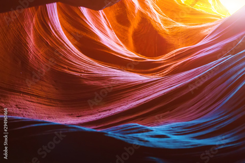 Foto auf Leinwand Violett rot Antelope Canyon in the Navajo Reservation near Page, Arizona USA