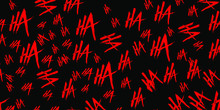 Joker Laugh HA HA Vector Background