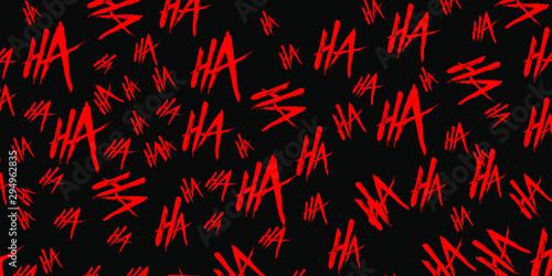 Photo Joker laugh HA HA vector background