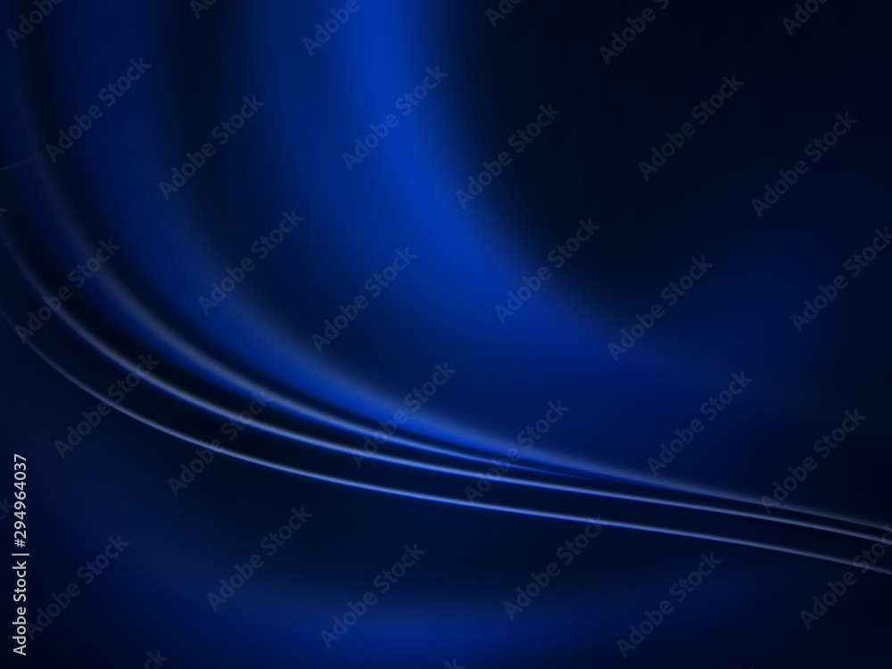 Fototapety, obrazy: Abstract technology blue background with wave