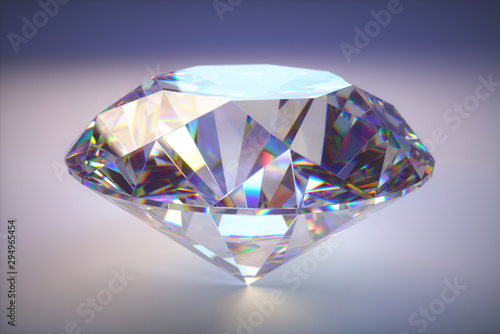 Foto Giant Diamond Gem With Clipping Path