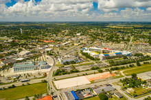 Aerial Photo Downtown Homestead Florida USA