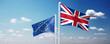 Leinwandbild Motiv Brexit Konzept - Großbritannien  verlässt die Europäische Union