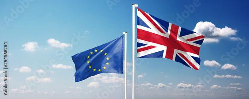 Pays d Afrique Brexit Konzept - Großbritannien verlässt die Europäische Union