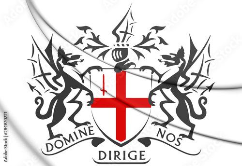 3D London coat of arms. 3D Illustration. Canvas-taulu