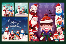 Bundle Christmas Cards With Label Merry Christmas