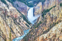 Lower Falls And Grand Canyon O...