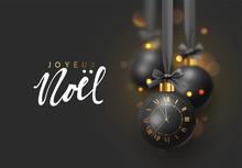 French Text Joyeux Noel. Chris...