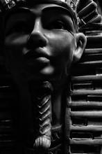Black And White Pharoah Statue...