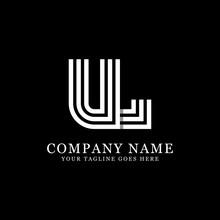 UL Initial Logo Designs, Creative Monogram Logo Template