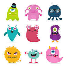 Cute Monster Design For Kids A...