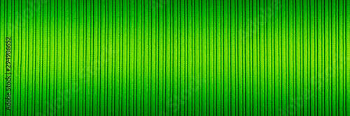Decorative background green color, striped texture, upper and lower gradient. Wallpaper. Art. Design. - 294986652