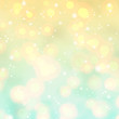 Elegant blurred background in yellow and blue colors. Sunny day glitter lights backdrop use for summer vacation advertising. Abstract defocused wallpaper vector illustration. Festive luminous design