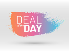 Deal Of The Day Sale Tag. Colo...