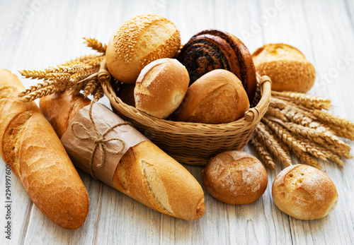 In de dag Brood Assortment of baked bread