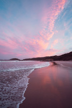 Epic Pink And Purple Sunset Ov...