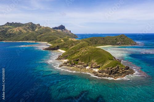 Valokuvatapetti Stunning view of the Yasawa island in Fiji in the south Pacific ocean