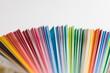 カラフルな色サンプルの紙